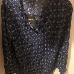 Eddie Bauer print blouse